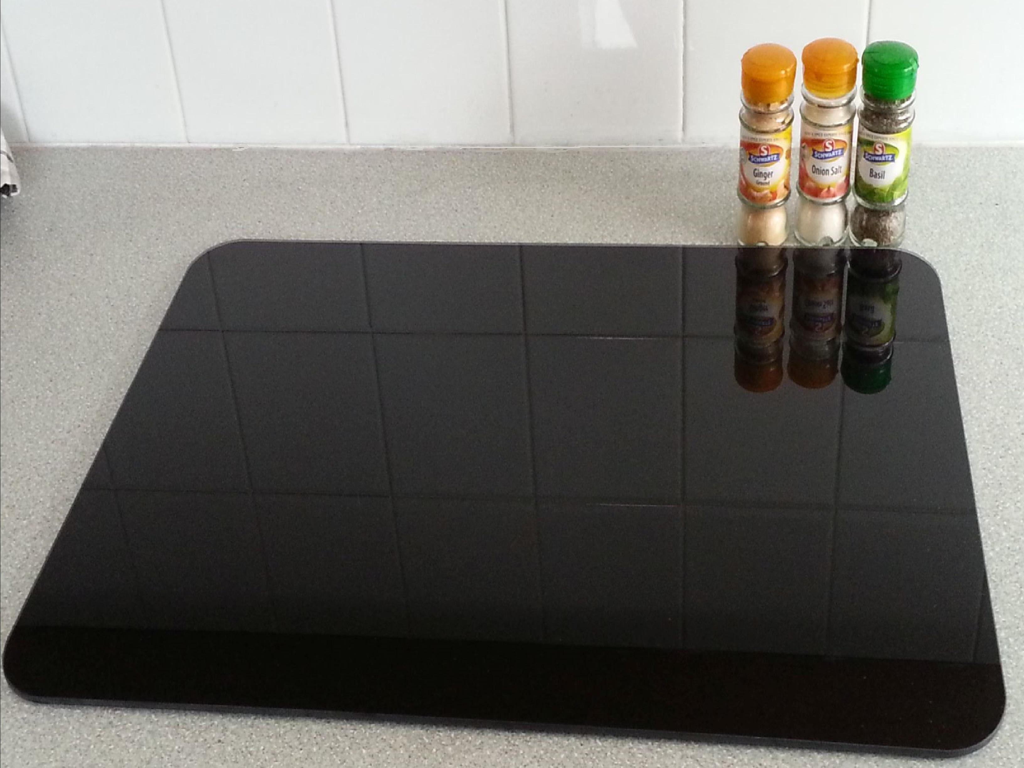Glass Kitchen Worktop Savers Uk