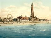 Blackpool from Central Pier, Lancashire - Glass Worktop Saver