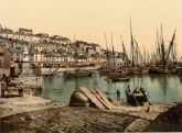 Brixham Harbour, Devon - Glass Worktop Saver