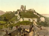 Corfe Castle, Dorset  - Glass Worktop Saver
