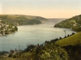 Dartmouth, From Dyer's Hill, Devon - Glass Worktop Saver