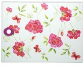 Summer Flowers Glass Worktop Saver